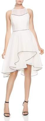 Halston Ruffled Skirt Organza Dress