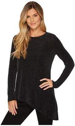 Calvin Klein Angle Bottom Long Sleeve Top Women's Clothing