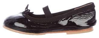 Bloch Girls' Patent Leather Round-Toe Flats
