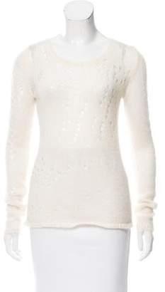 Etoile Isabel Marant Mohair & Wool-Blend Open Knit Sweater