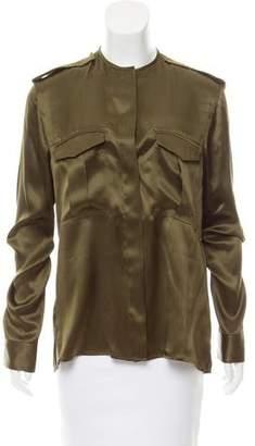 Haider Ackermann Silk Button-Up Top w/ Tags