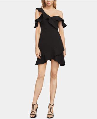 BCBGMAXAZRIA Malik Asymmetrical Off-The-Shoulder Dress