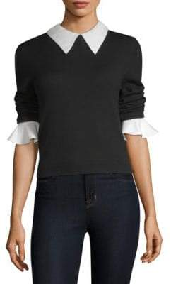 Alice + Olivia Aster Ruffle Cuff Sweater