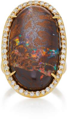 Kimberly McDonald 18K Gold Yawah Opal And Diamond Ring