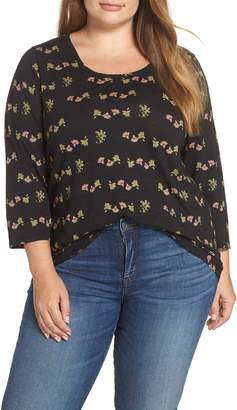 Lucky Brand Floral Print Tee