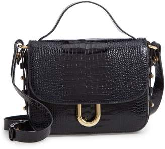 J.Crew Harper Croc-Embossed Leather Crossbody Bag
