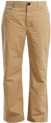 Marni Straight-leg cotton and linen-blend trousers