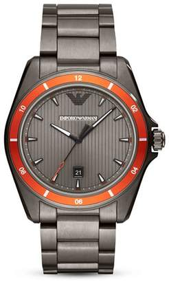 Emporio Armani Sigma Three-Hand Stainless Steel Watch, 44mm