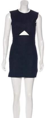 Tamara Mellon Sleeveless Denim Mini Dress
