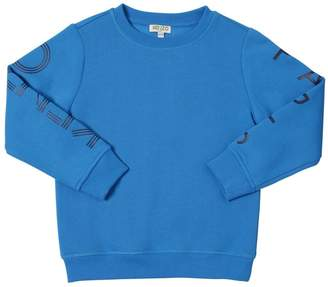 Kenzo Logo Sleeves Cotton Sweatshirt