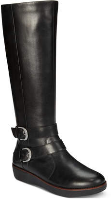 FitFlop Noemi Double-Buckle Riding Boots Women Shoes