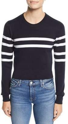 The Upside Nala Striped Cutout-Back Cropped Sweater