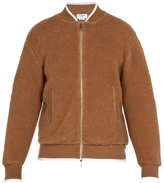 Thom Browne Camel Hair And Silk Blend Bomber Jacket - Mens - Camel