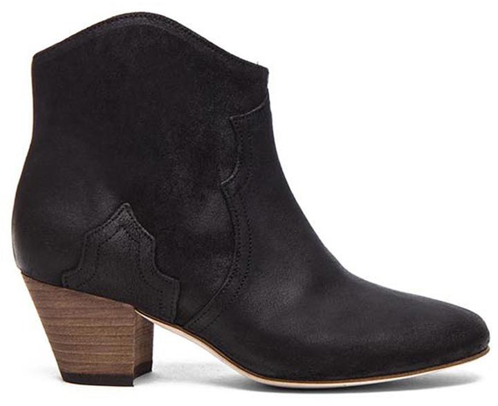 Isabel Marant Dicker Calfskin Velvet Leather Boots