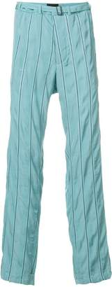 Haider Ackermann striped belted trousers