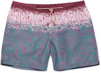 Thorsun Clay Slim-Fit Mid-Length Printed Swim Shorts
