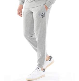 Jack and Jones Originals Mens Inner Comfort Fit Sweat Pants Light Grey Melange