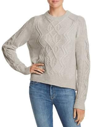 Aqua Aran-Knit Cashmere Sweater - 100% Exclusive