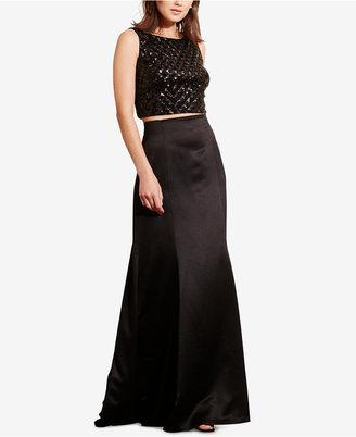 Lauren Ralph Lauren Sequined Top & High-Waist Skirt Set $290 thestylecure.com