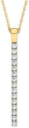 Line Of Love Diamond Pendant Necklace (1/2 ct. t.w.) in 14k White Gold