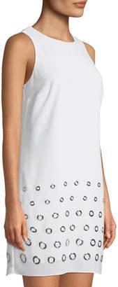 MICHAEL Michael Kors Grommet-Trimmed Sleeveless Mini Dress