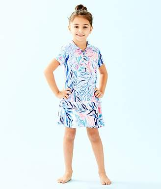 987d44983ab823 Lilly Pulitzer UPF 50+ Girls Mini Sadie Polo Dress