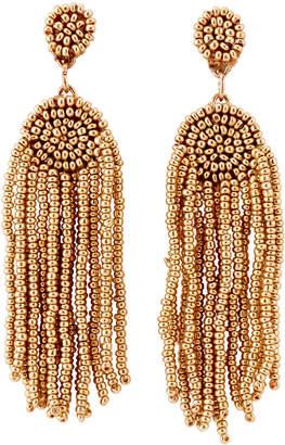 Catherine Stein Gold-Tone Bead Tassel Earrings