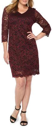 Liz Claiborne 3/4 Sleeve Lace Sheath Dress