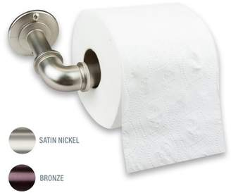 Rod Desyne Single Toilet Paper Holder - Satin Nickel