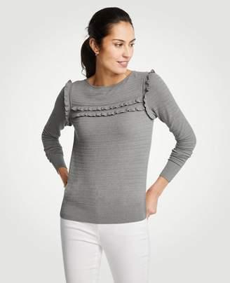 Ann Taylor Ruffle Stitch Sweater