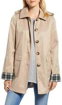 Halogen Hooded Mac Jacket