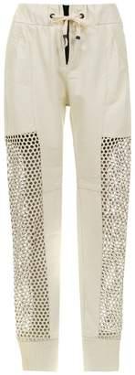 Andrea Bogosian leather skinny trousers