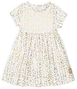 Smiling Button Smiling Button Little Girl's& Girl's Confetti Sunday Cotton Dress