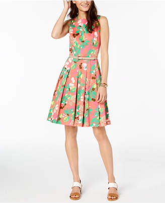Tommy Hilfiger Printed Fit & Flare Dress, Created for Macy's