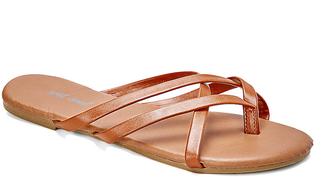 Cognac Selene Sandal $9.95 thestylecure.com