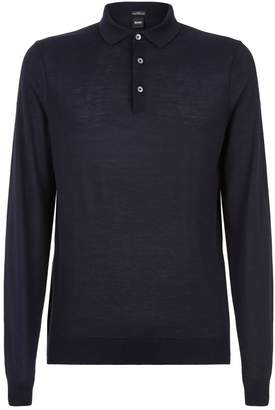 BOSS Contrast Trim Knitted Polo Shirt
