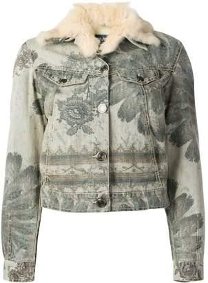 Jean Paul Gaultier Pre-Owned floral print denim jacket