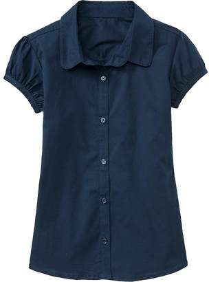 Old Navy Ruched-Sleeve Uniform Shirt for Girls