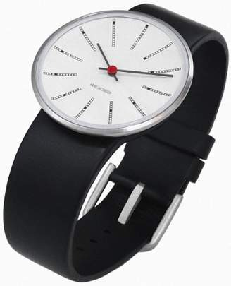 Rosendahl Arne Jacobsen Bankers Unisex Watch 43450 with Black Calf Skin Strap (Large)