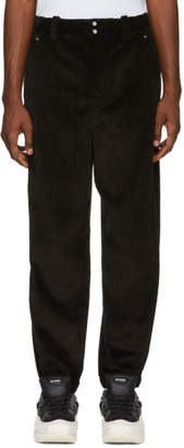 Alexander Wang Black Corduroy Wide Wale Trousers
