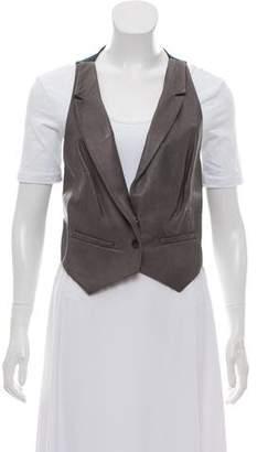 Rozae Nichols Leather Suit Vest