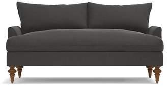 Apt2B Saxon Apartment Size Sofa in STEEL VELVET - CLEARANCE
