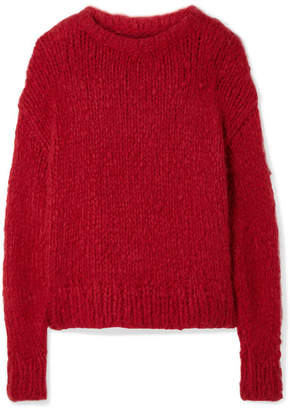 The Row Ophelia Oversized Cashmere Sweater - Red