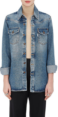 Off White Women's Western-Style Denim Blouse $575 thestylecure.com