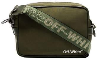 Off-White green strap cross body bag