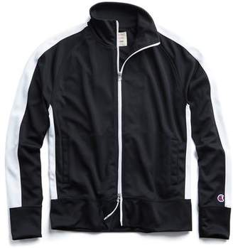 Todd Snyder + Champion Striped Track Jacket in black
