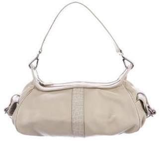 Pollini Embossed Leather Shoulder Bag