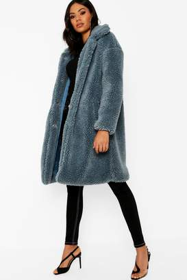 boohoo Premium Oversized Teddy Faux Fur Coat