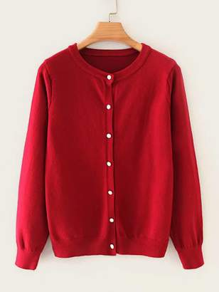 Shein Button Up Solid Cardigan