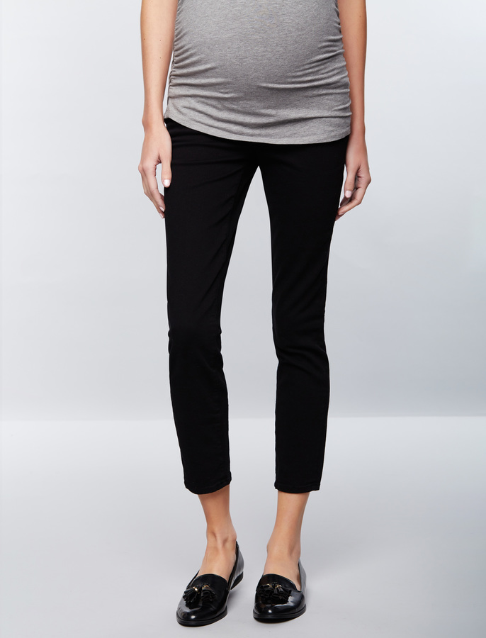 A Pea In The PodFrame Secret Fit Belly Black Skinny Maternity Jeans